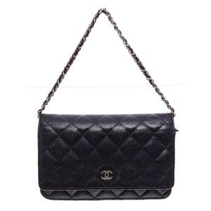 Chanel Leather Wallet On Chain WOC CrossbodyBag